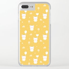 Baby Teddy Pigs Clear iPhone Case