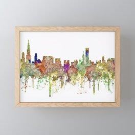 Chicago,Ilinois Skyline SG -Faded Glory Framed Mini Art Print