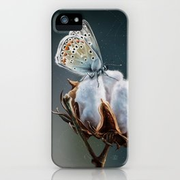 Cotton & Butterfly iPhone Case