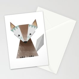 Little brown fox Stationery Cards