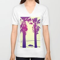 palms V-neck T-shirts featuring Palms by Giuseppe Cristiano