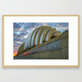 Kansas City Performing Arts Center with Sunrise Perspective Framed Art Print