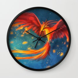 Beautiful phoenix Wall Clock