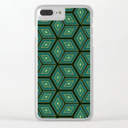 Cubed Geometrical Pattern Clear iPhone Case