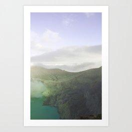 Mt. Ijen Art Print