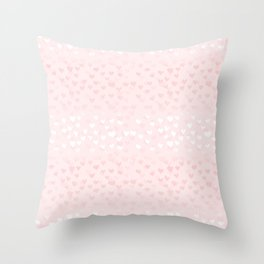 Hearts in light pink Throw Pillow