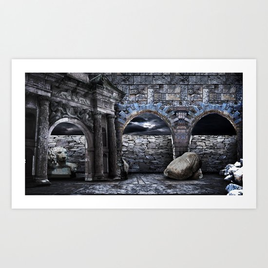 Ancient times Art Print