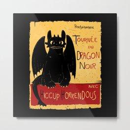 Dragon noir Metal Print