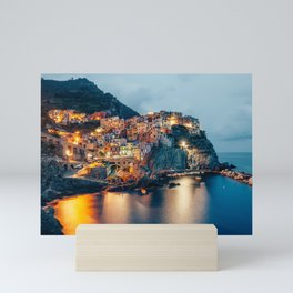 Manarola village at Night Mini Art Print