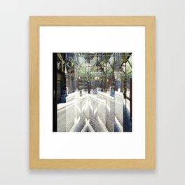 cross out or over paths summarized as with burrows Framed Art Print