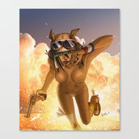 tank girl Canvas Prints featuring Tank by PeppebBox