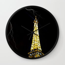 Eiffel Tower Lightning Wall Clock