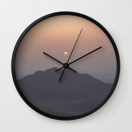 Sunrise at Moses Mountain. Wall Clock