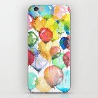 balloons iPhone & iPod Skins featuring balloons by Katja Main