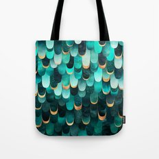 Feathered - Turquoise Tote Bag
