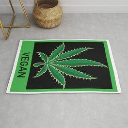 Vegan Marijuana Leaf Rug