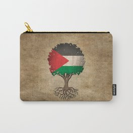 Vintage Tree of Life with Flag of Palestine Carry-All Pouch
