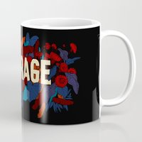 courage Mugs featuring COURAGE by The Line Maker