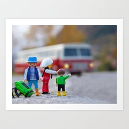 Three Nomads Family Traveling Art Print