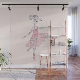 illusima Ballerina Mouse Wall Mural