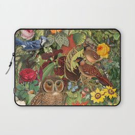 Birds, Insects & Flowers Laptop Sleeve