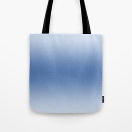 Pastel Blue to Blue Horizontal Bilinear Gradient Tote Bag