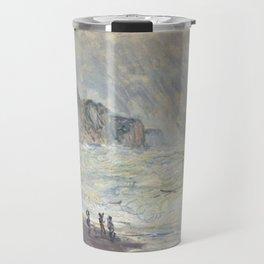 Claude Monet - Heavy Sea at Pourville, 1897 Travel Mug