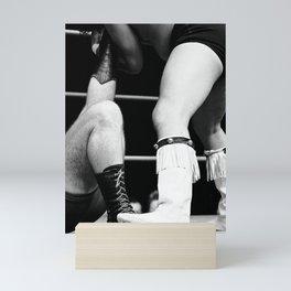 wrestling boots Mini Art Print