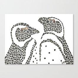 Vanishing Penguins by Black Dwarf Designs Canvas Print