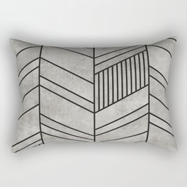 Concrete Chevron Pattern Rectangular Pillow