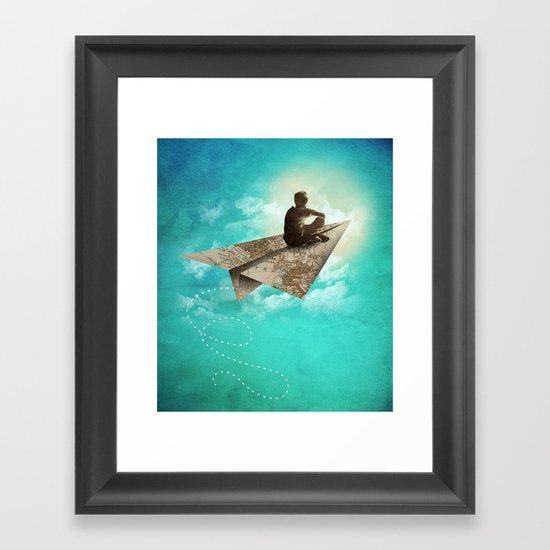 Paper Aeroplane Framed Art Print