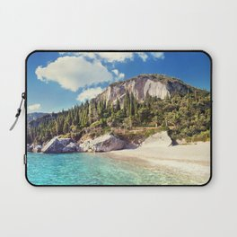 Corfu beach in the rocks. Greece, Liapades, Giofyra beach. Laptop Sleeve