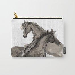 Arabian foals ink art Carry-All Pouch