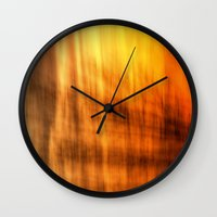 tapestry Wall Clocks featuring Tapestry by Mark Alder