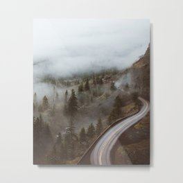 Foggy Rowena Crest Metal Print