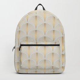Golden Fan Leaf Art Deco Classic Pattern Backpack