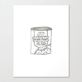 Line Drawn Soup Can Canvas Print