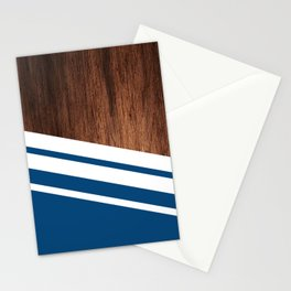 Wood of blue Stationery Cards