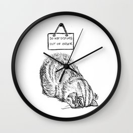 Out of order Wall Clock