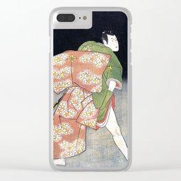 Green Samurai Clear iPhone Case