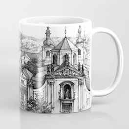 Prague over the rooftops Coffee Mug