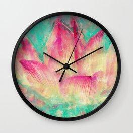 Lotus blossom Wall Clock
