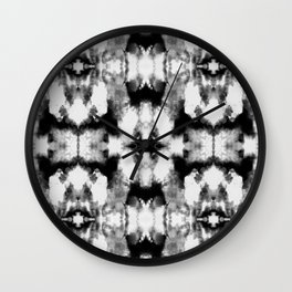 Tie Dye Blacks Wall Clock
