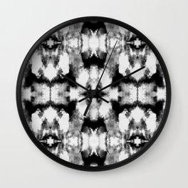 Tie Dye Blacks Wall Clock