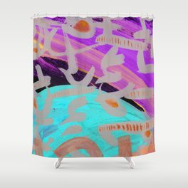 One and One Makes Three Shower Curtain