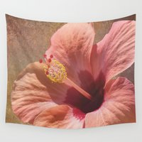hibiscus Wall Tapestries featuring Hibiscus by Lynn Bolt