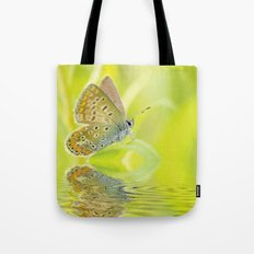 zen style butterfly green outdoor Tote Bag