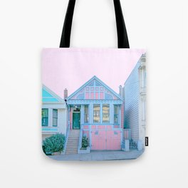 San Francisco Painted Lady Victorian House Tote Bag