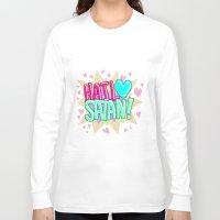 satan Long Sleeve T-shirts featuring HAIL ♥ SATAN! by Adrian Trenteseaux