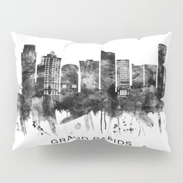 Grand Rapids Michigan Skyline BW Pillow Sham